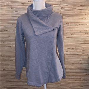 Columbia medium grey blue sweatshirt coat jacket